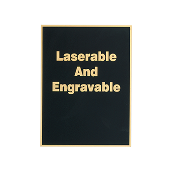 Laserable And Engravable Engraved On Black Plate