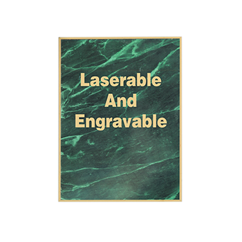 Laerable And Engravable Engraved On A Green Marble Plate