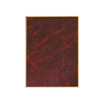 Blank Red Marble Plate
