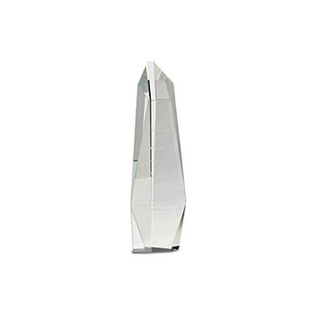 Clear Crystal Obelisk Free Standing
