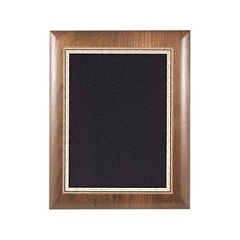Genuine Walnut Elliptical Edge Plaque Successful Signs