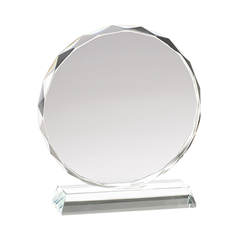 A Clear Circular Glass Award
