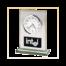 Intel Engraved On A Brushed Metal Rectangular Award With Clock