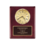 10 Year Service award Engraved On Piano Finish Rosewood Plaque With Clock