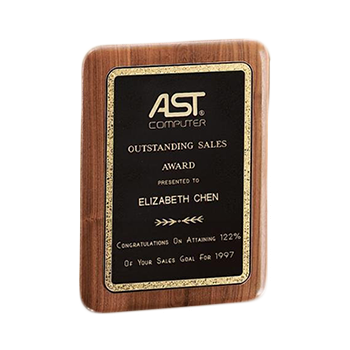 American walnut corporate plaque successful signs and awards for Plaque ondulee polycarbonate transparent