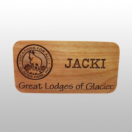 Wood Name Tags