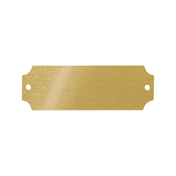 Gold Aluminum Plate with Holes on Each End