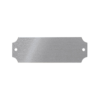 Silver Aluminum Plate With Holes On Each End