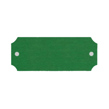 Green Aluminum Rectangular Plate With Holes On Each End