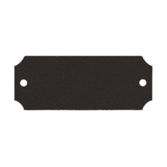 Black Brass Plate With Holes On Each End