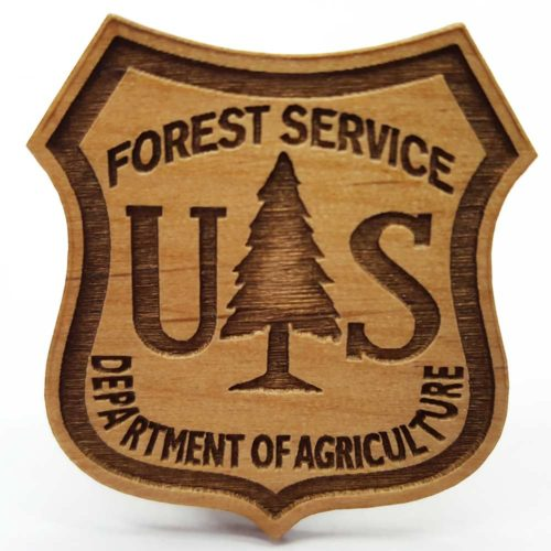 Custom Wooden Name Tag For US Forest Service In Kalispell Montana