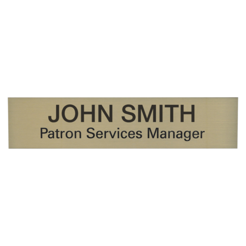 Engraved Name Plates & Name Tags - Successful Signs