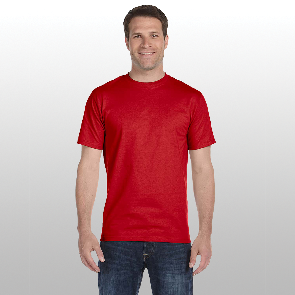 Man Wearing Red Adult Blend Shirt Successful Signs And