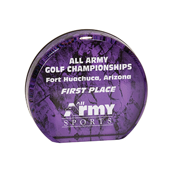 All Army Championships For Huachuca, Arizona First Place Engraved on Purple Aurora Acrylic Award