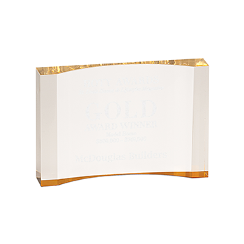 Gold Acrylic Crescent Award