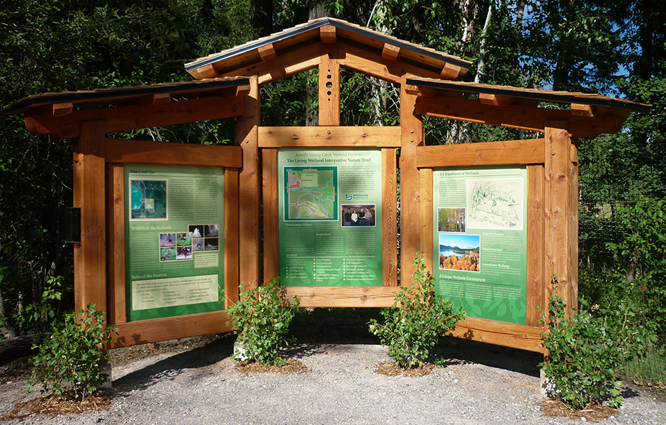 Exterior Wetlands Printed Sign