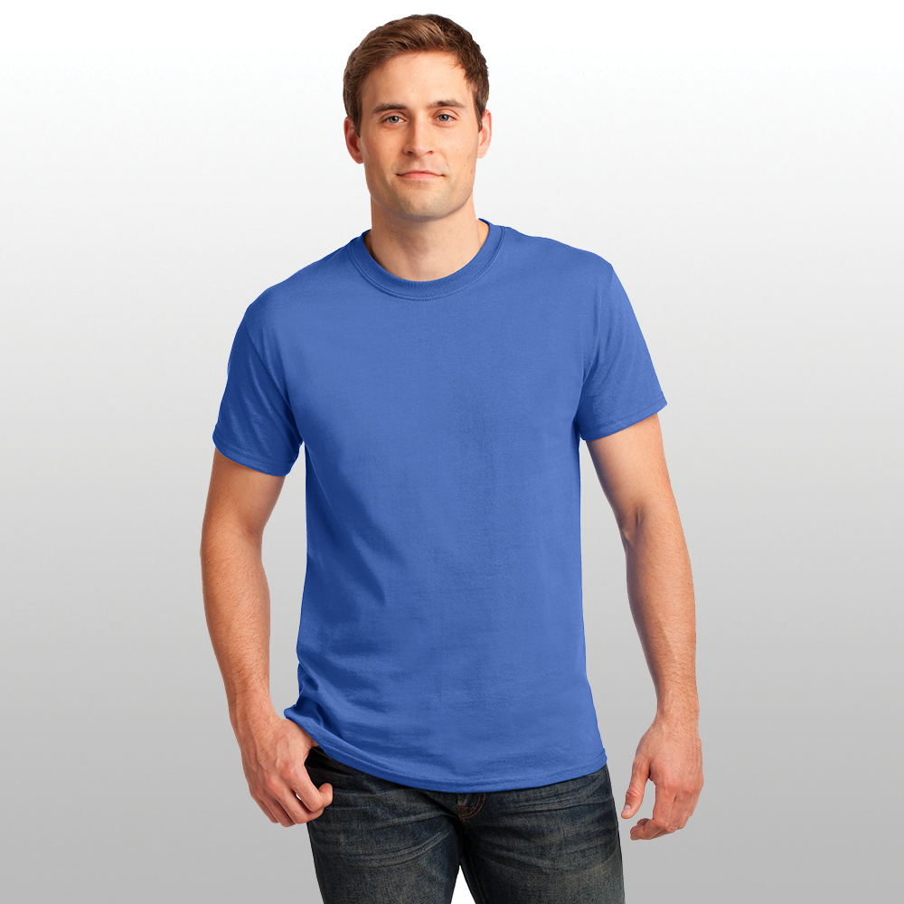 Man Wearing Blue Adult Cotton Shirt Successful Signs And