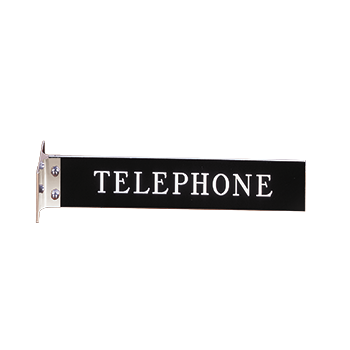 Mounted Black Telephone Sign