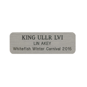 Custom Silver Nickel Name Tag