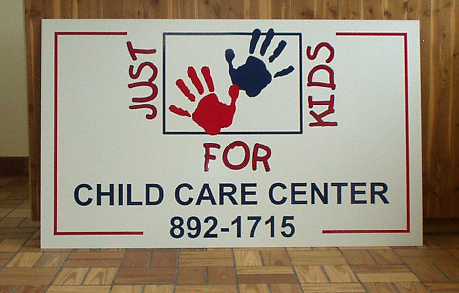 Child Care Center Aluminum Sign Successful Signs And Awards