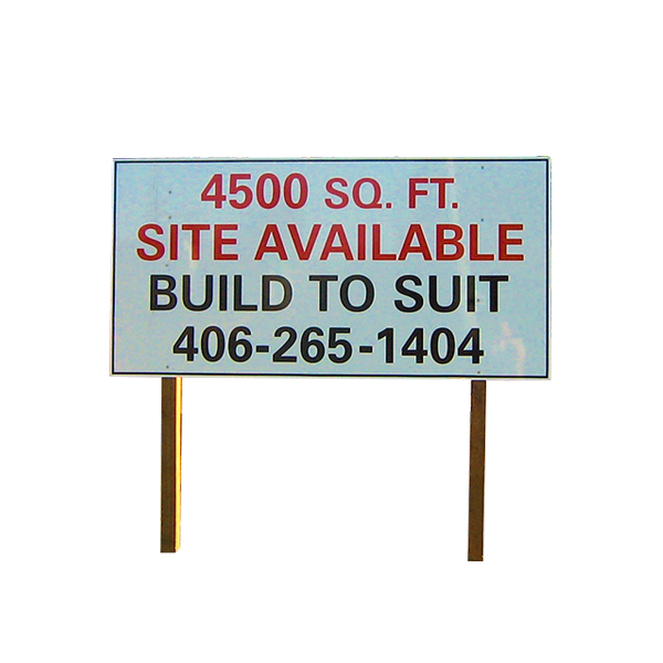 4'x8' lightweight aluminum real estate/site sign