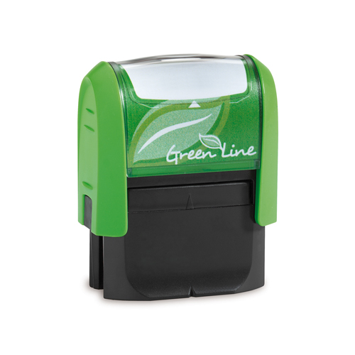 Eco friendly self inking stamp for address, deposit, notary or signature stamps