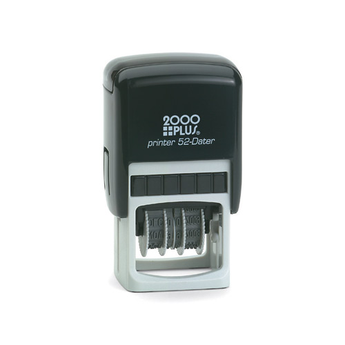 Printer 52 Small Plastic Frame Self Inking Date Stamp