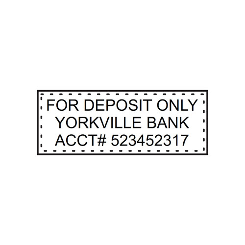 Small 3 Line Bank Deposit Stamp Successful Signs And Awards