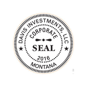 Round Self Inking Rubber Stamp Corporate Seal Large