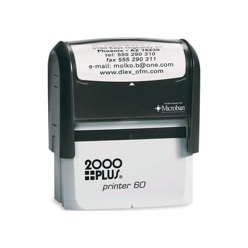 large self inking rubber stamp