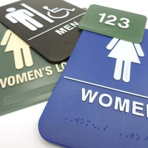 Engraved Braille Signs