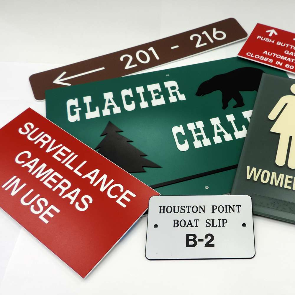 Custom Engraved Plastic signs