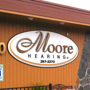 Moore Hearing Business Sign