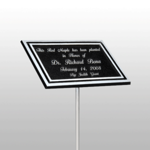 Custom Dedication Plaque with Pole
